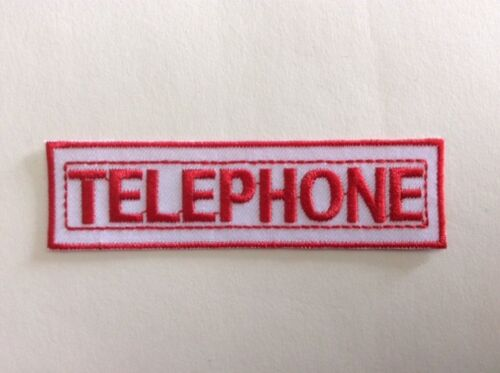 NEUF M317 //// ECUSSON PATCH AUFNAHER TOPPA TELEPHONE 10*2,8 CM