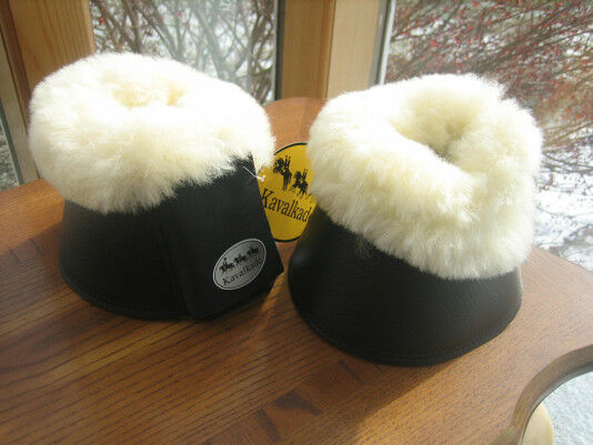 Horse  Bell Boots Neoprene Real Lambswool Brand New by Kavalkade Germany Large XL  wholesale price