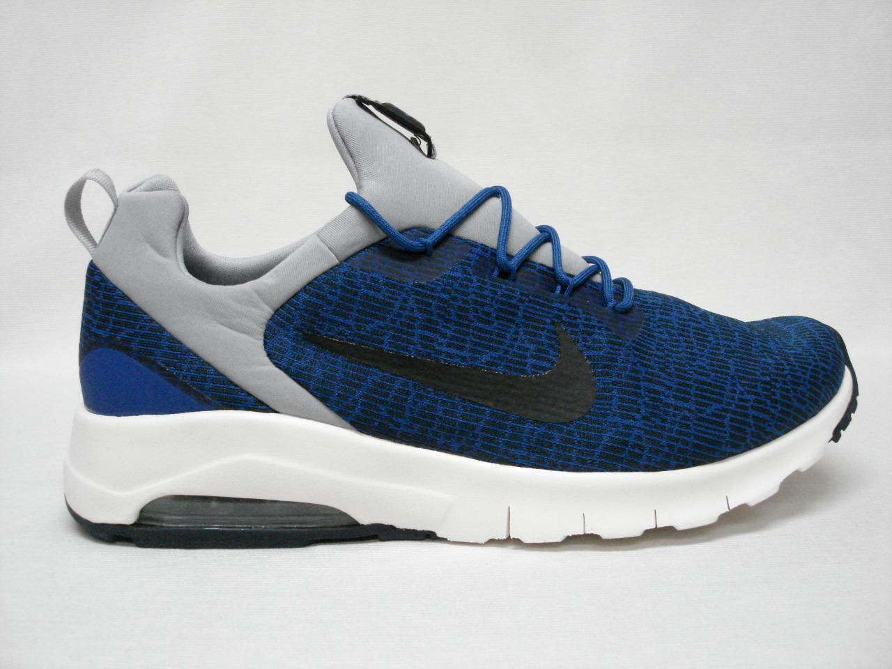 NIB NIKE AIR MAX MOTION RACER MEN'S SHOE'S 8.5 BLUE/BLACK~AWESOME LOOKING SHOE'S