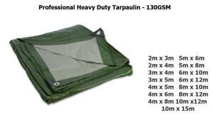 Professional Tarpaulin Heavy Duty Waterproof Cover Roofing Ground Sheet 130 GSM