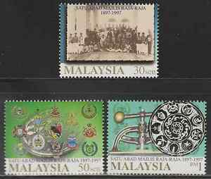 212-MALAYSIA-1997-CENTENARY-OF-THE-CONFERENCE-OF-RULERS-SET-FRESH-MNH