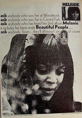 MELANIE 1969 Poster Ad BEAUTIFUL PEOPLE