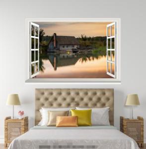 3D Hosue Dusk 4535 Open Windows WallPaper Murals Wall Print Decal Deco AJ Summer