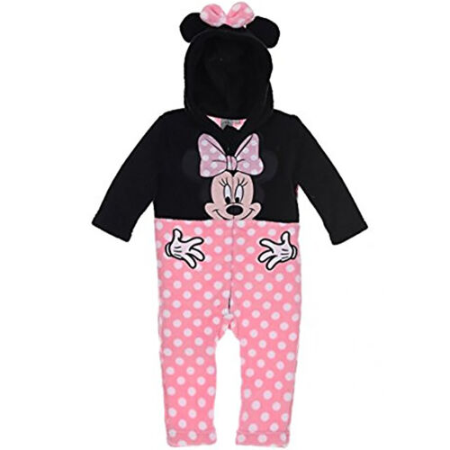 Disney Minnie Mouse Baby Girls Coral Fleece All in One Suit outfit 12-36 Months