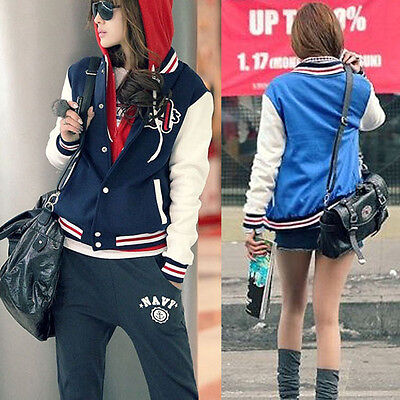 Fashion Baseball Jackets Coats For women Jacket Coat Outwear 2 colors US JG6