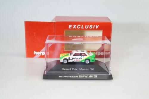 neuw.//ovp 1:87 Herpa exclusiv BMW M3 Grand Prix Macau /'91