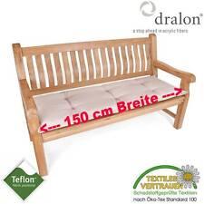 dralon® Teflon™ PREMIUM AUFLAGE FÜR BANK 150 x 50 CM SAND 3-SITZER SITZKISSEN