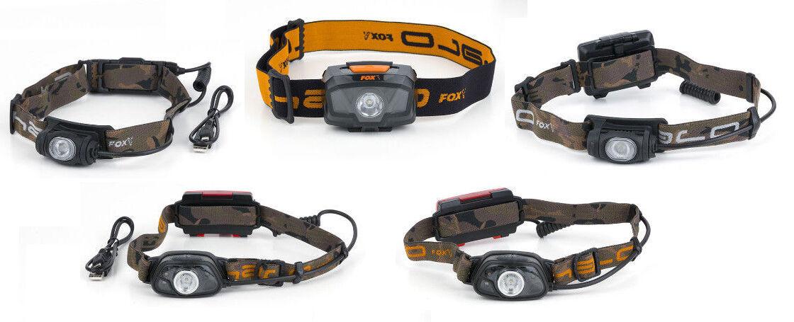 NUOVO FOX Halo Headtorch Head Torch 200 MS250 MS300c AL320 AL350c LUCE da pesca