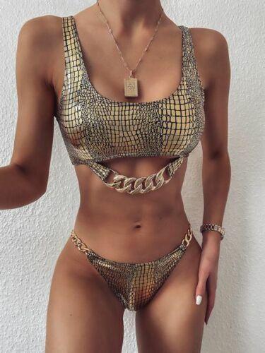 Triangle bikini beachwear bra swimwear lady  Women push up monokini padded