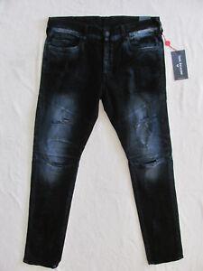 c36b26d7c54 True Religion Rocco Skinny Biker Jeans-Destroyed-Blue Blaze-Size 36 ...