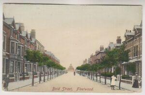 Lancashire postcard - Bold Street, Fleetwood - P/U 1942 (A647)