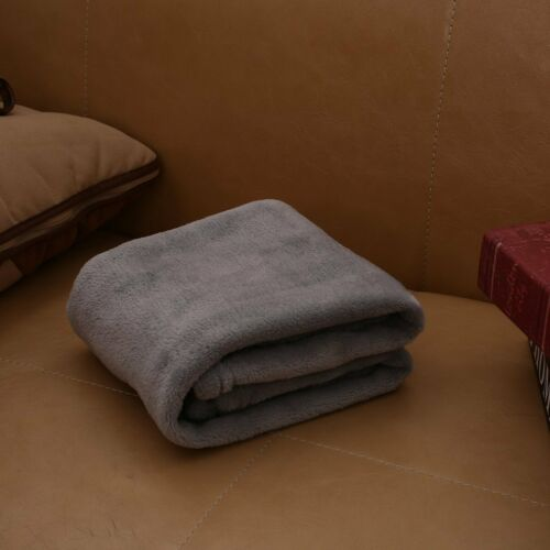 Warm Flannel Solid Color Home Sofa Bedding Office Car Blanket Home Textile 45x65
