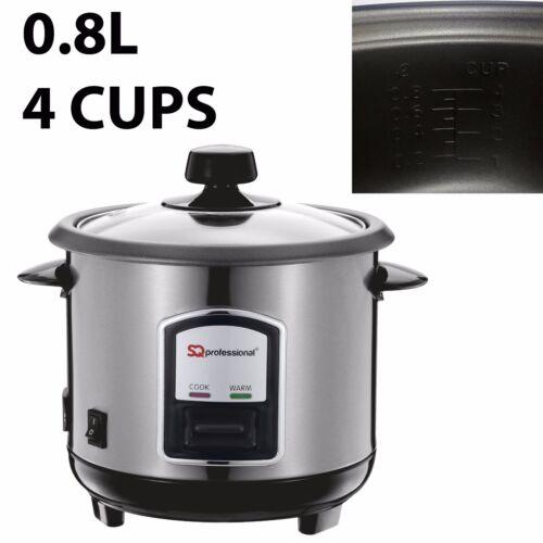 Il riso fornello 0.8L AUTOMATICA ANTIADERENTE ACCIAIO PENTOLA più caldi con libero Cucchiaio