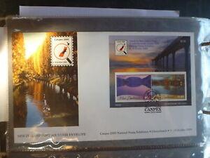 NEW-ZEALAND-CANPEX-2000-SCENIC-REFLECTIONS-MINI-SHEET-SOUVENIR-COVER