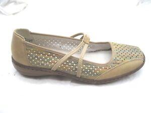 Rieker-size-40-9M-beige-blue-rainbow-Mary-Janes-womens-ladies-flats-shoes-3751