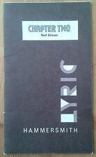 Chapter Two programme Lyric Hammersmith theatre 1981 Maureen Lipman