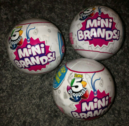 NEW Sealed Balls In Hand /& Free Ship!✨ ✨ZURU 5 SURPRISE MINI BRANDS LOT OF 3