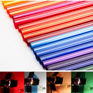 Details About Colors Lighting Filter Gel Sheets 16x20 40x50cm For Photo Camera Studio Lamp