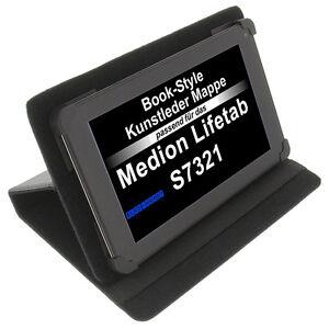 Funda-para-Medion-Lifetab-S7321-LIBRO-Estilo-Tableta-Protectora-Soporte-Negro