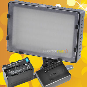 13W CN 216 LED Light Lamp for Camera Video Camcorder W/F970 Battery Charger