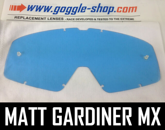 Pro MOTOCROSS Mirror tinted Clear REPLACEMENT Goggle LENS to fit Fox Main