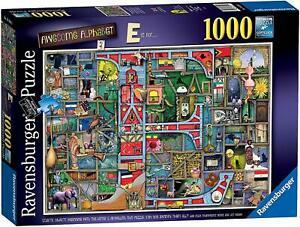 NEW-Ravensburger-Awesome-Alphabet-E-by-Colin-Thompson-1000-piece-comic-jigsaw