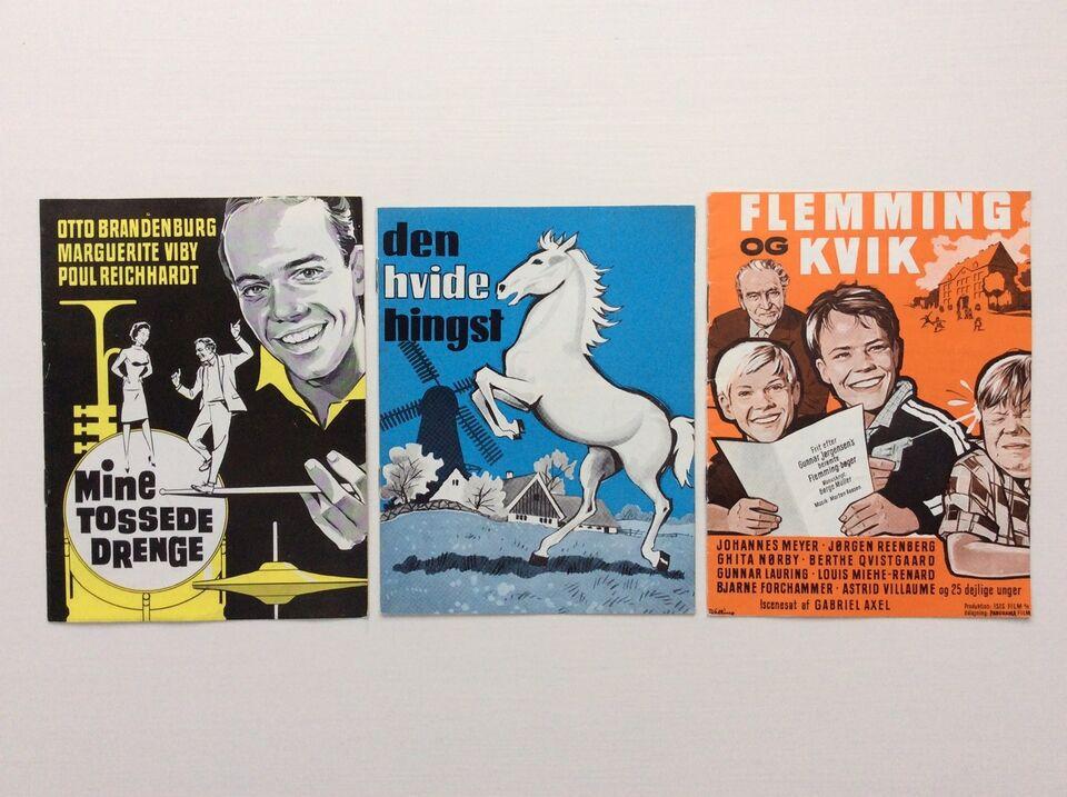 Andre samleobjekter, Filmprogrammer Danske Film 60erne