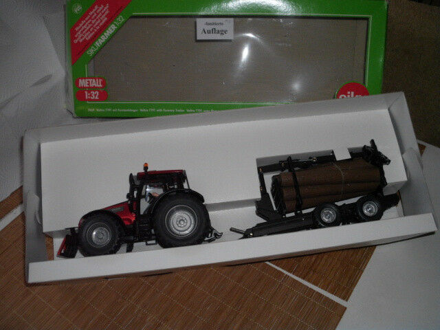 Siku 1 32  Farmer 3869 Valtra M. Forestry Trailer Set-RARE-BOXED-RARE  promotions promotionnelles