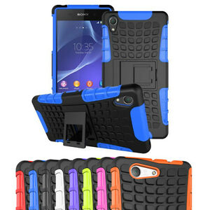 Shockproof-Heavy-Duty-Stand-Case-Tough-Cover-for-SONY-Xperia-Z2-Z3-Z5-Compact