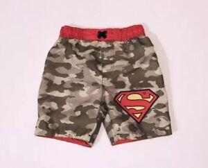 Dc Comics Toddler Boys Superman Swim Trunks Navy//White Size 3T New