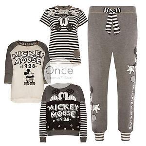 Pyjama blanc noir pour femme Mickey Mouse DISNEY