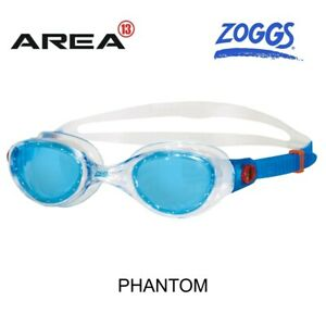 ZOGGS-PHANTOM-TINTED-SWIMMING-GOGGLES-BLUE-CLEAR-SWIMMING-GOGGLES
