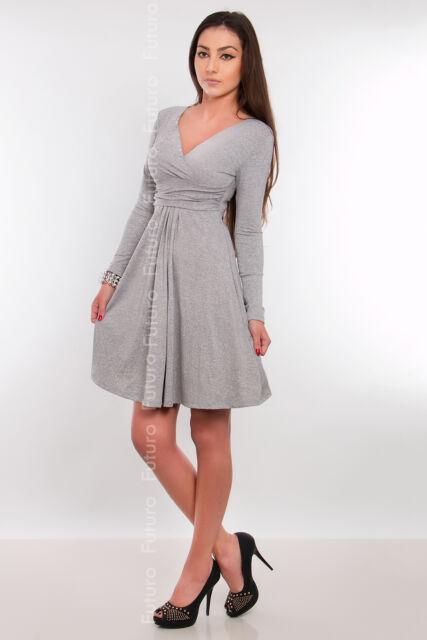 Classic & Sensible Women's Dress V Neck Long Sleeve Tunic Sizes 8-18 8467