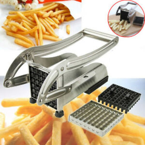 f49e38a3c61 Image is loading French-Fry-Cutter-Potato-Slicer-Vegetable-Chopper-Dicer-