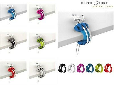 Desk Cable Clip  Your choice of colour. One Clip. FAST 'N FREE DELIVERY