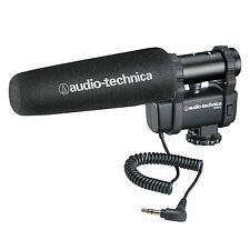 Audio-Technica AT8024 Stereo/Mono Camera-Mount Microphone F/DSLR & Video Cameras