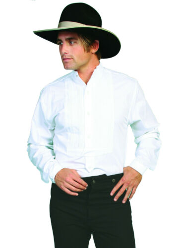Scully Men/'s Wahmaker Inset Bib Gamblers Shirt 100/% Cotton Poplin L//S 579250