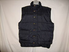 Mens David Taylor Puffy Vest Black Nylon Polyester Filled Size XL