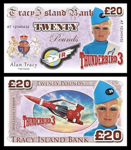 Alan Tracy-Thunderbird 3 nouveauté billets sac de fête charges