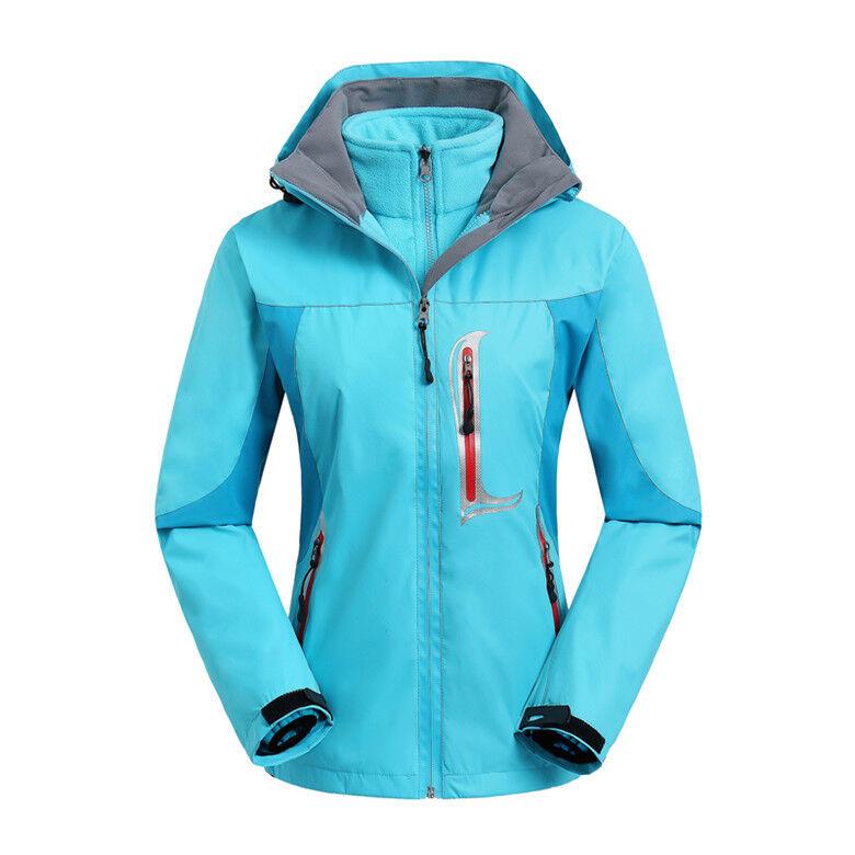 daSie Ski Jacket Snowboard D101 Lady Blau Snow Winter Waterproof 6 8 10 12 14