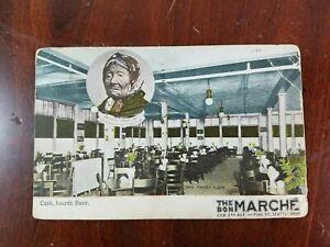 1908-Bon-Marche-Restaurant-Chief-Seattle-Princess-Angeline-Washington-Postcard