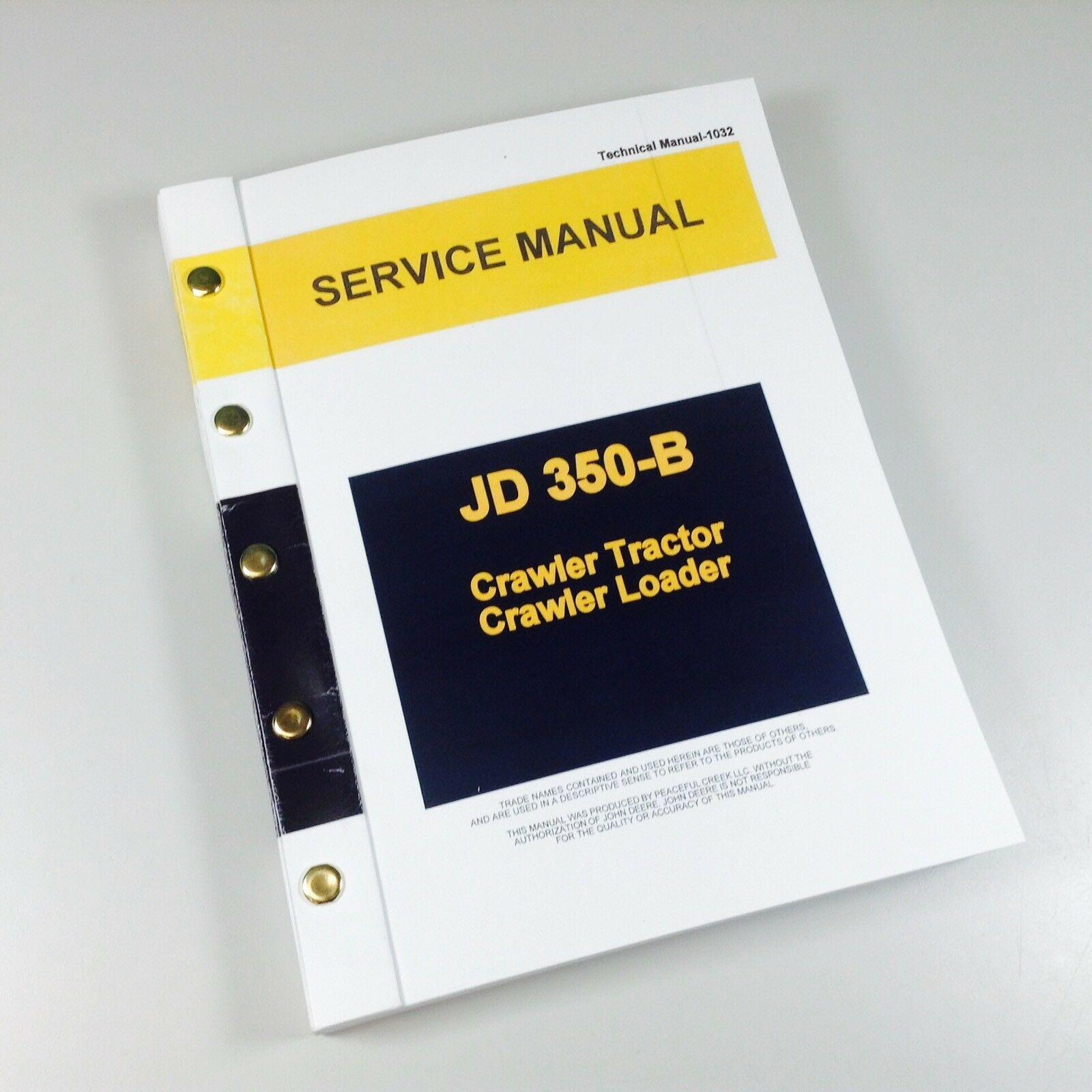 SERVICE MANUAL FOR JOHN DEERE 350B CRAWLER TRACTOR DOZER LOADER REPAIR  TECHNICAL