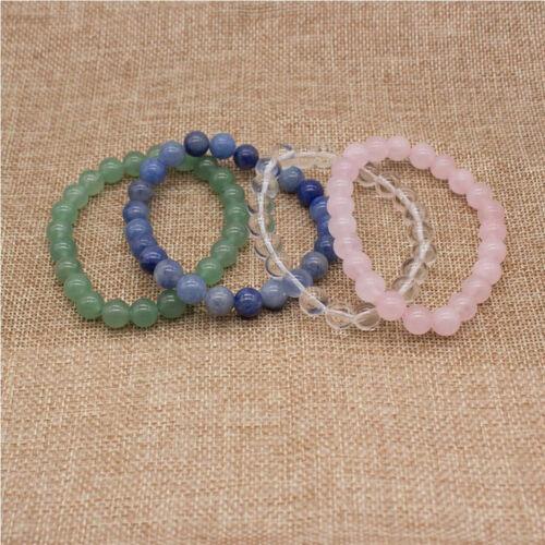 8 mm perles pierre naturelle Agate Healing Élastique Bracelet Pour Unisexe Bijoux N168