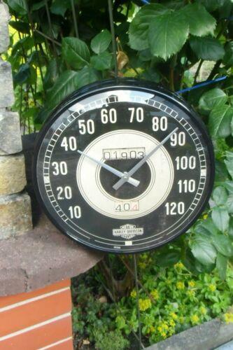 Metal//Glas Licensed NEW in sealed Box HARLEY-DAVIDSON Speedometer WALL CLOCK