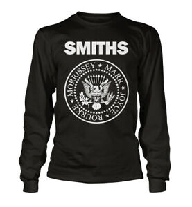 The-SMITHS-T-Shirt-Morrissey-Crest-Manchester-Long-Sleeved-Unisex-All-Sizes