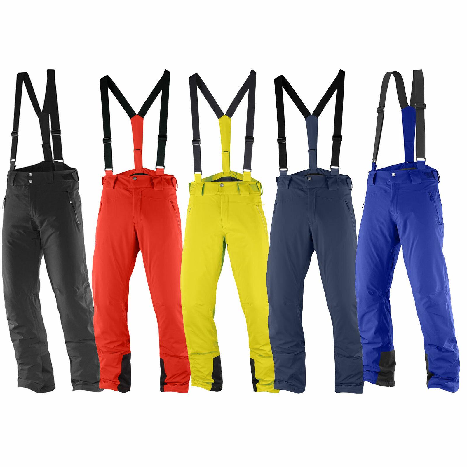 Salomon Iceglory Pantalones Pantalón de Esquí para Hombre Snowboard Impermeable