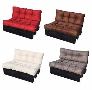 Sedute Divani Su Misura.Dettagli Su Cuscino Per Bancale Cuscino Divano Pallet Di Legno Misure Seduta E Schienale