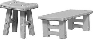 Groovy Details About Wizkids Deepcuts Unpainted Miniatures Wooden Table Stools New Machost Co Dining Chair Design Ideas Machostcouk