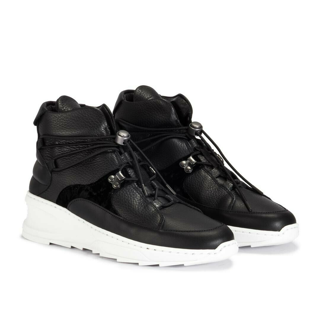 FILLING PIECES Women's 'MID MARINA SHARK BOGOR' Black SNEAKER US 8.5   EU 39
