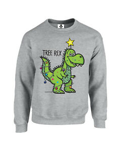 Tree-Rex-Adults-Christmas-Jumper-Funny-Dinosaur-Xmas-Sweatshirt-Sizes-S-XXL